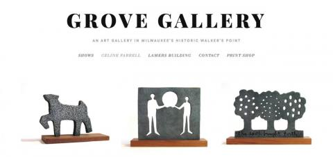 grove gallery, grand opening, sculpture, celine farrell, milwaukee art, art gallery, casting