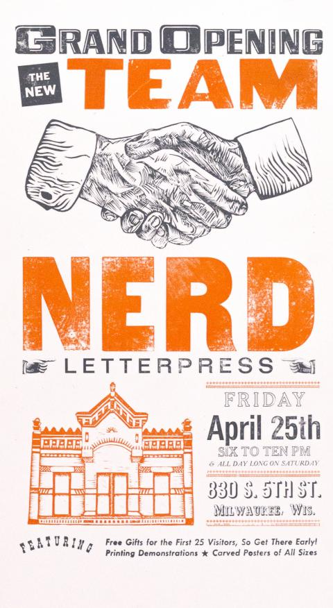 Grand Opening for Team Nerd Letterpress