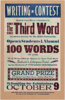 Call for Proposals for the Third Word, a student writing group.